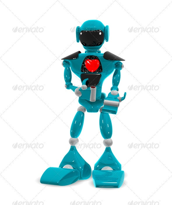 Robot with a heart - Characters Illustrations