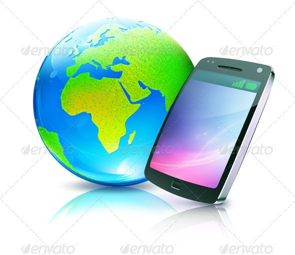 Cell Phone Icon - Communications Technology