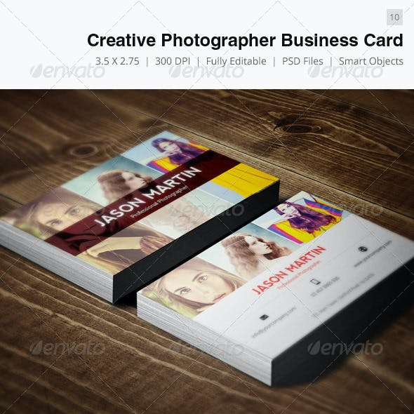 Creative Photographer Business Card - 10
