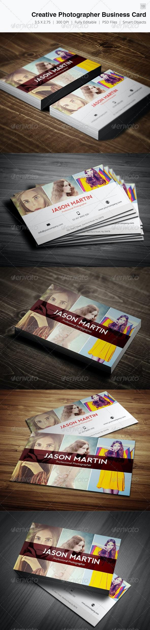 Creative Photographer Business Card - 10 - Creative Business Cards