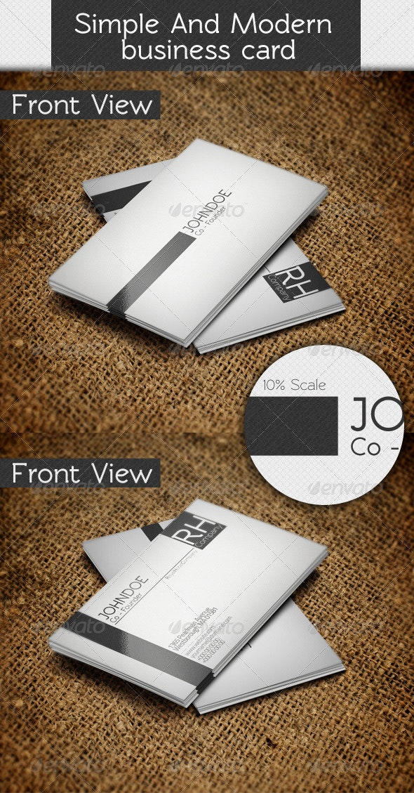 Simple and Modern Business Card - Corporate Business Cards