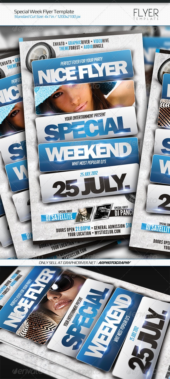 Special Week Flyer Template - Clubs & Parties Events