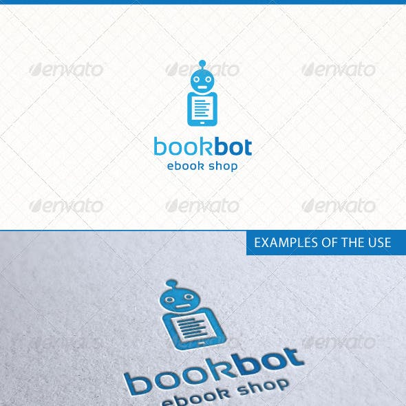 Bookbot Ebooks Logo Template