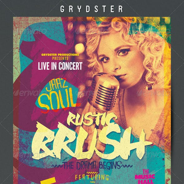 Rustic Brush Poster / Flyer