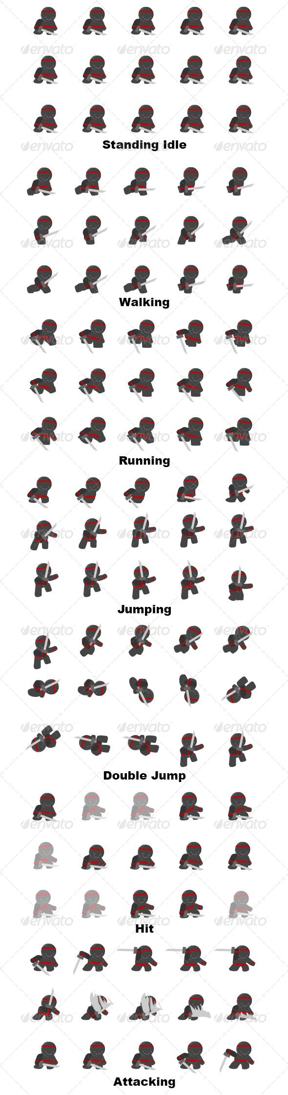 Ninja Character Sprite Sheet