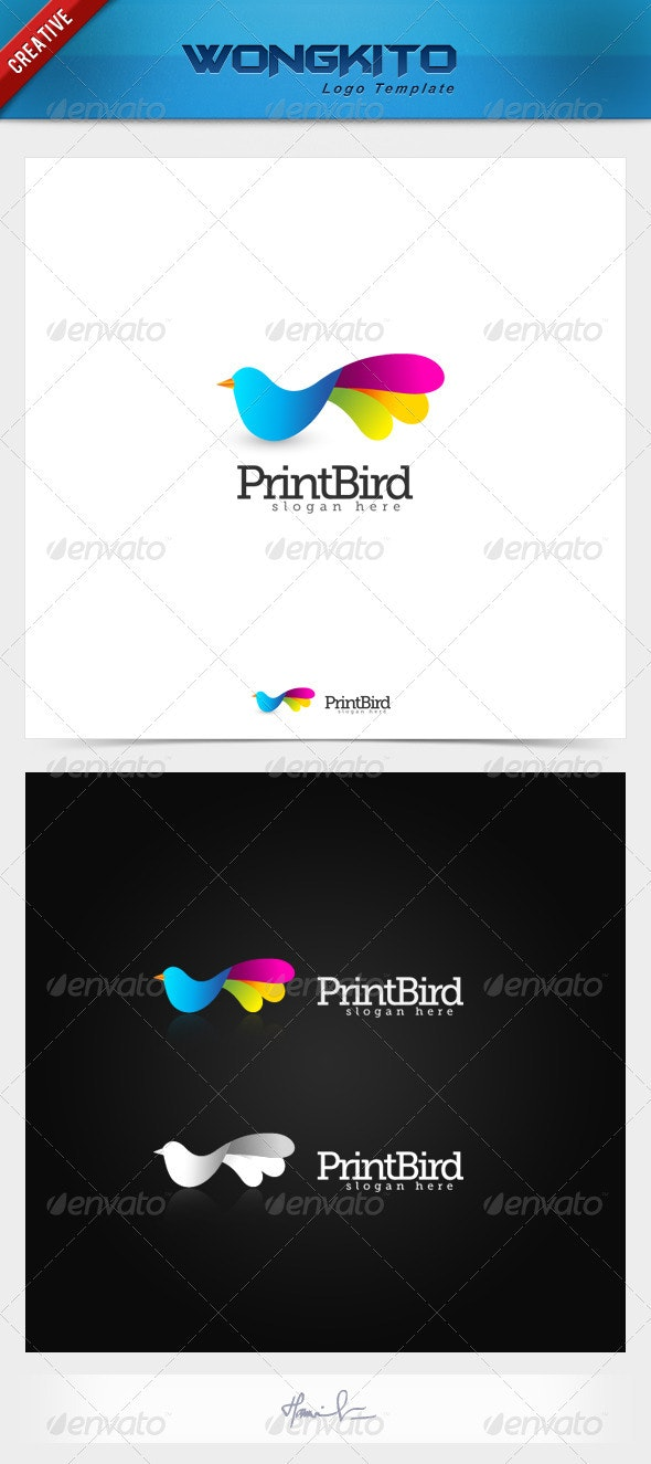 Print Bird - Animals Logo Templates