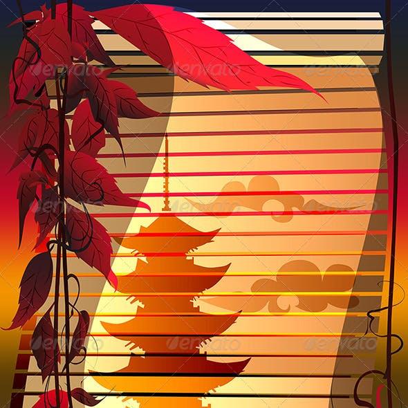 Jalousie with Pagoda
