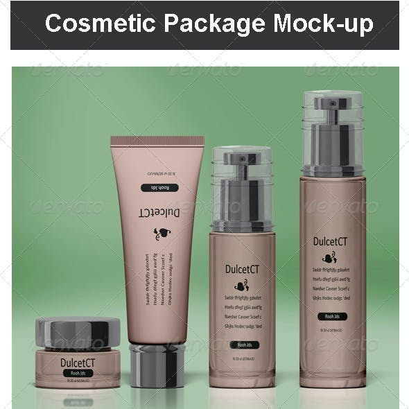 Cosmetic Package Mock-up