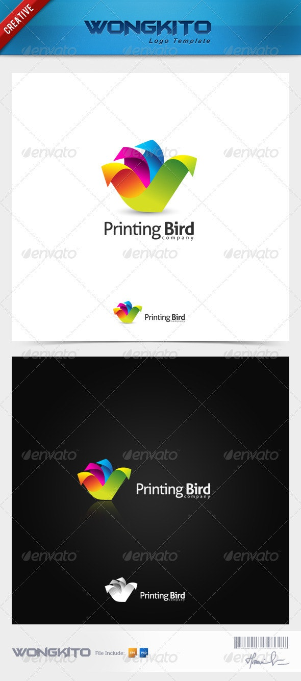 Print Bird2 - Objects Logo Templates