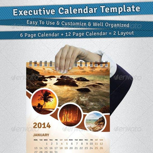 Executive Calendar Template 2014