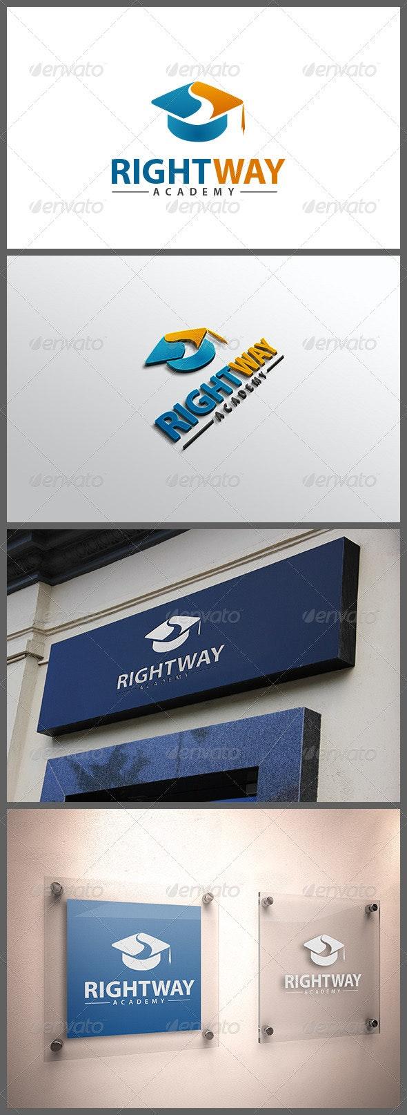 Right Way Academy - Objects Logo Templates