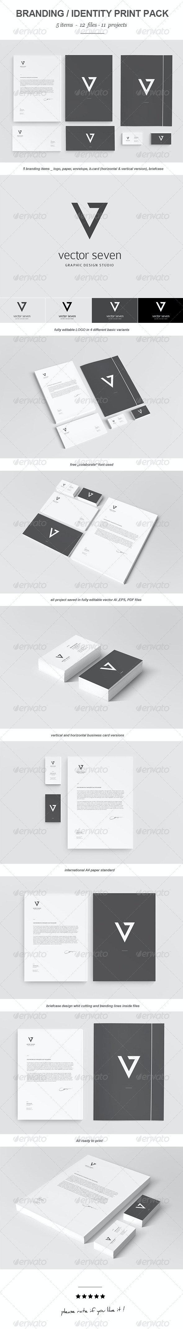 Seven Vector Branding Print Pack - Stationery Print Templates