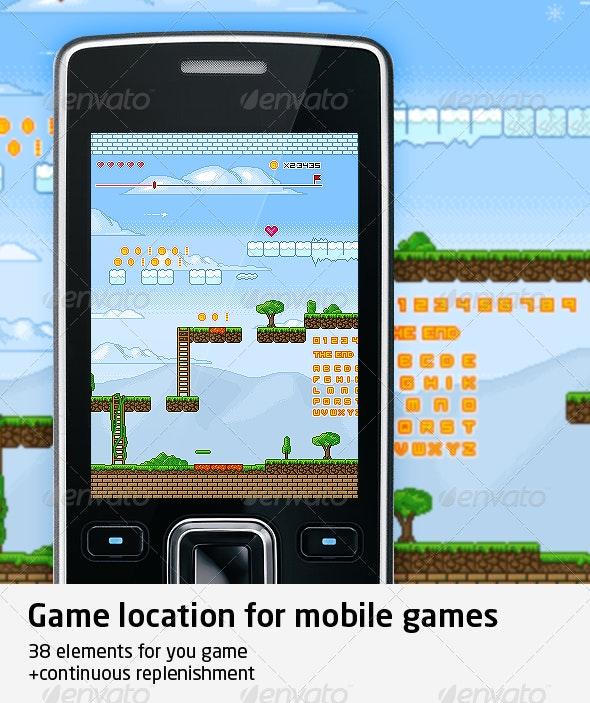 Pixel Art Scene for Game - Tilesets Game Assets