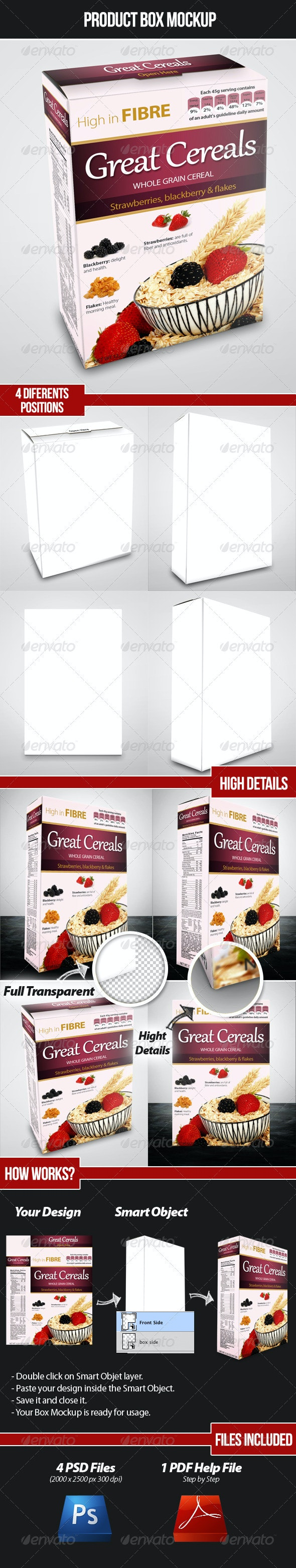 Product Box Mockup - Food and Drink Packaging