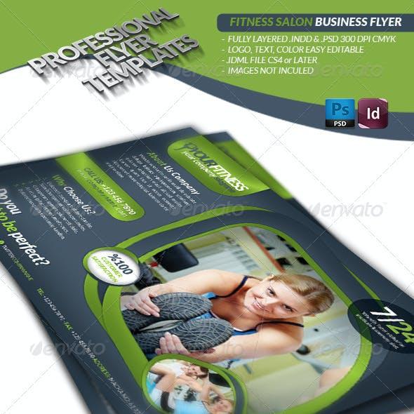 Fitness Salon Business Flyer