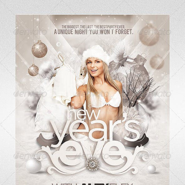 Christmas - New Year's Eve Flyer Template