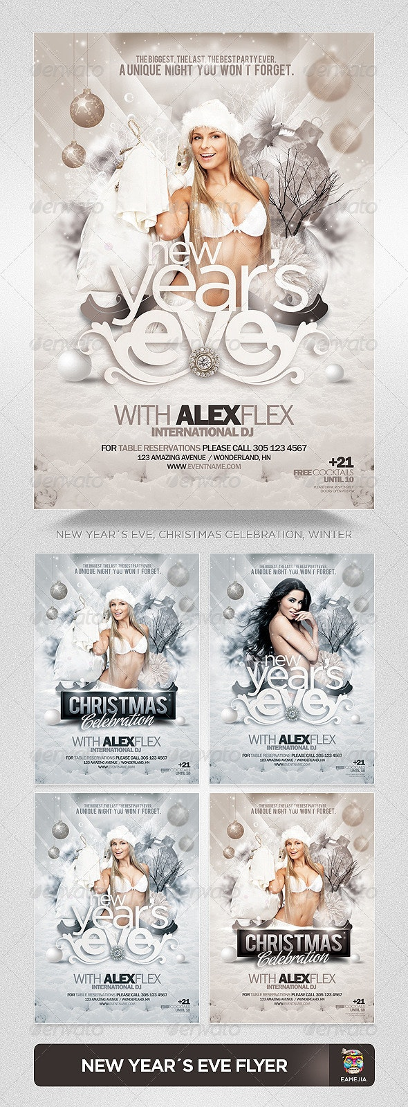 Christmas - New Year's Eve Flyer Template - Clubs & Parties Events