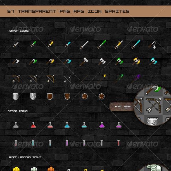 RPG Game Pixel Icon Sprites