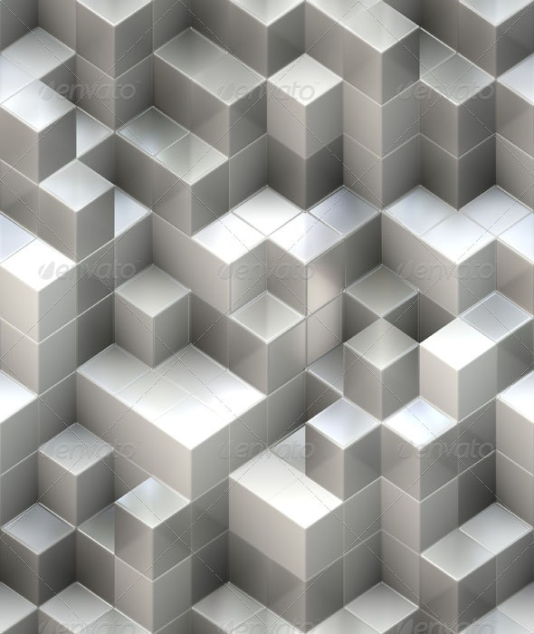White Cube Background - 3D Backgrounds