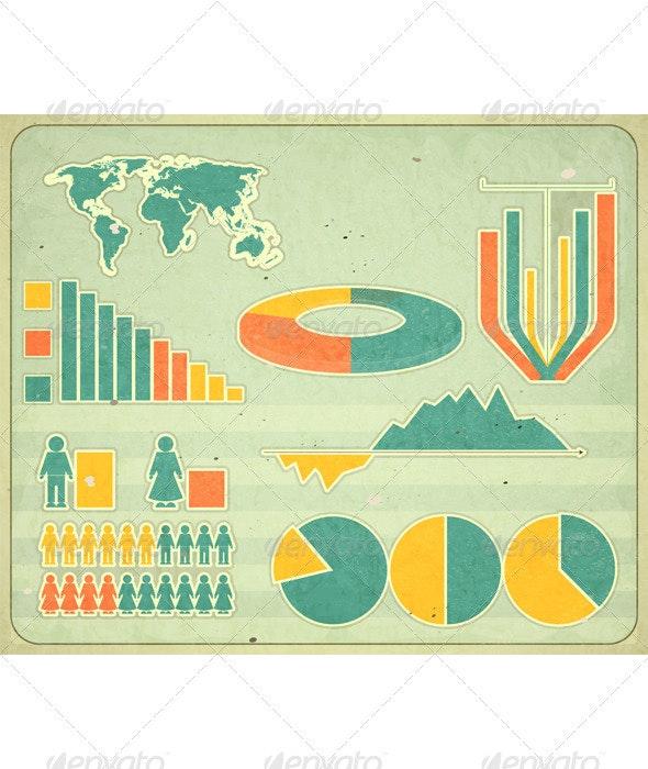 Vintage Infographic Elements - Infographics