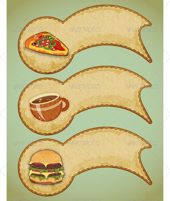 Retro Fast Food Labels - Food Objects