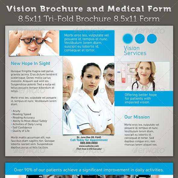 Vision Brochure and Medical Form Template