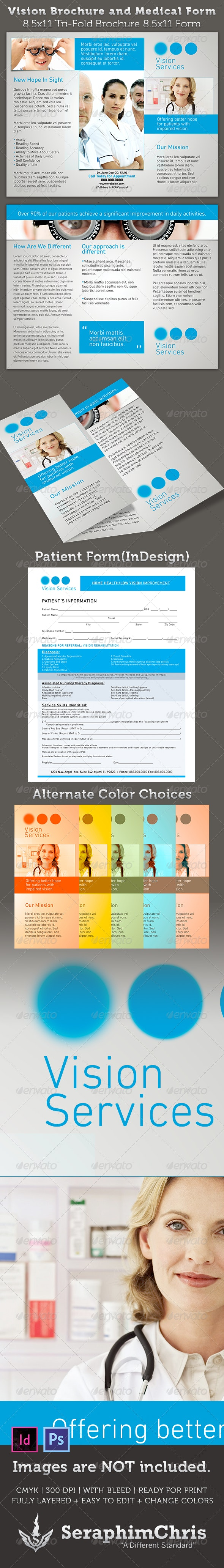 Vision Brochure and Medical Form Template - Corporate Brochures