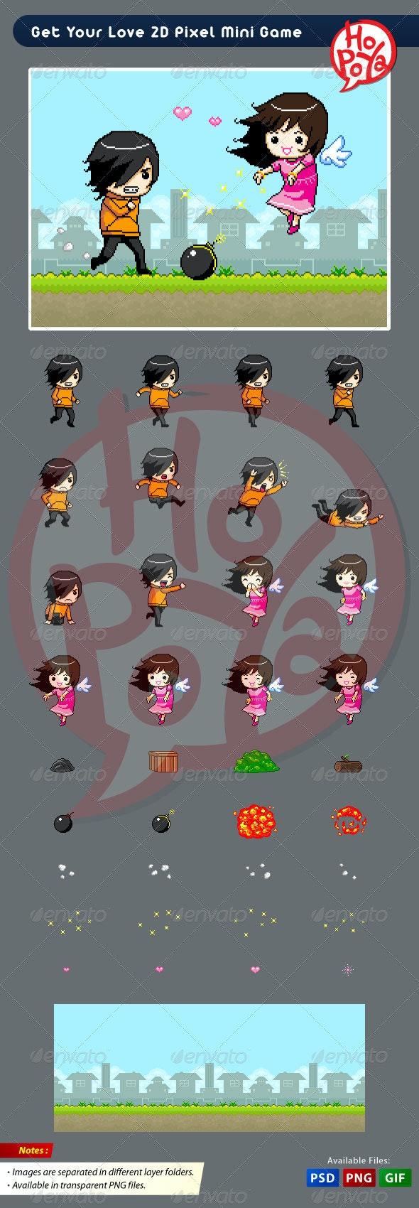 Get Your Love 2D Pixel Mini Game