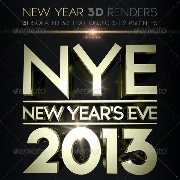 New Year 3D Renders