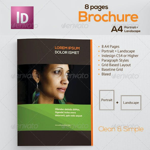 A4 Landscape and Portrait Brochure