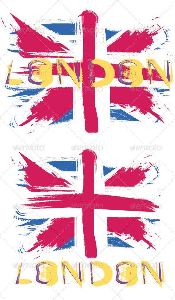 Grunge British Flag  - Travel Conceptual
