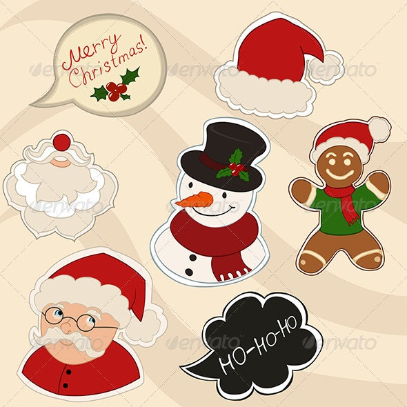 New Year Stickers - Christmas Seasons/Holidays