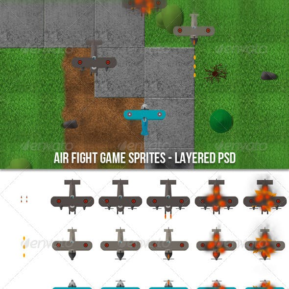 Air Fight Game Sprites