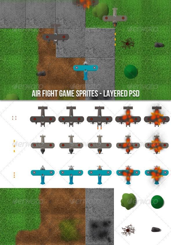 Air Fight Game Sprites