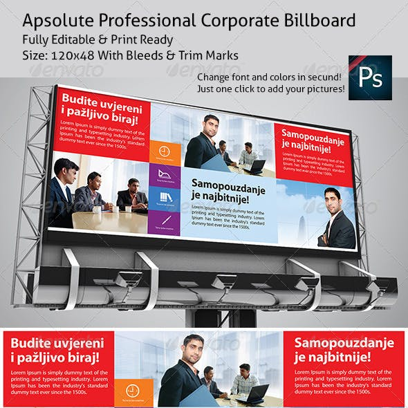Apsolute Professional Corporate Billboard