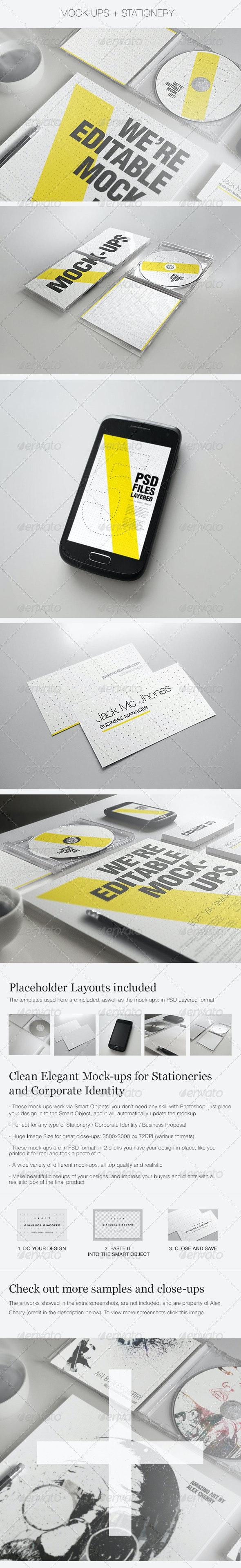 Realistic Stationery Mock-up Set 2- Corporate ID - Stationery Print