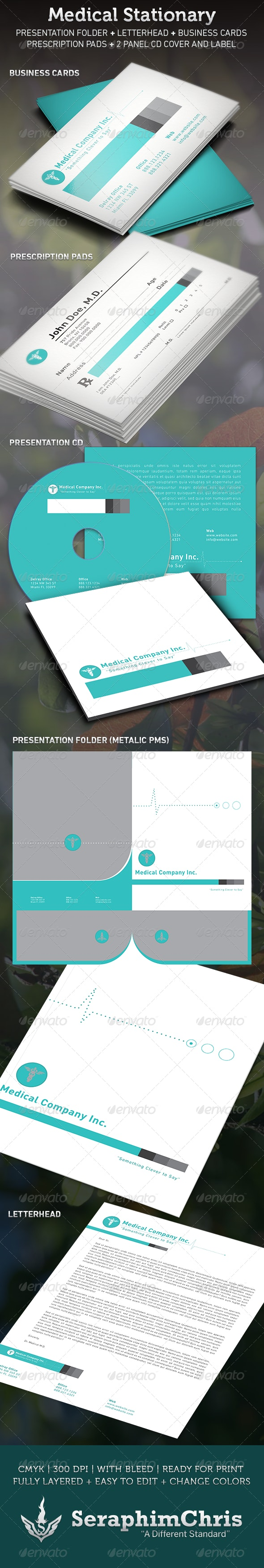 Medical Stationary Template - Stationery Print Templates