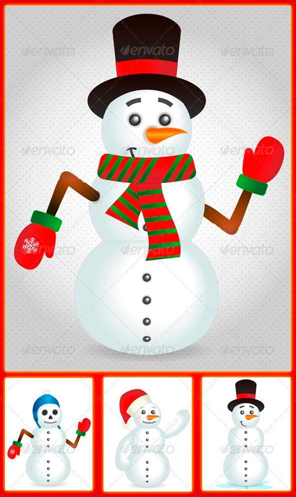 Snowman Customizable Pack - Characters Vectors