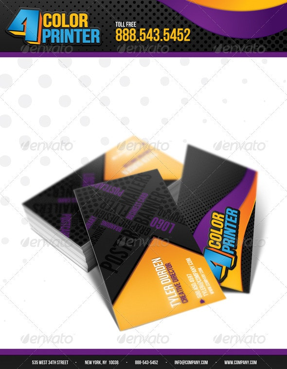 4 Color Printing Business Card By
