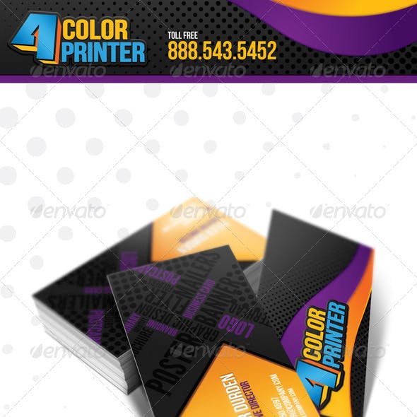 4 Color Printing Business Card