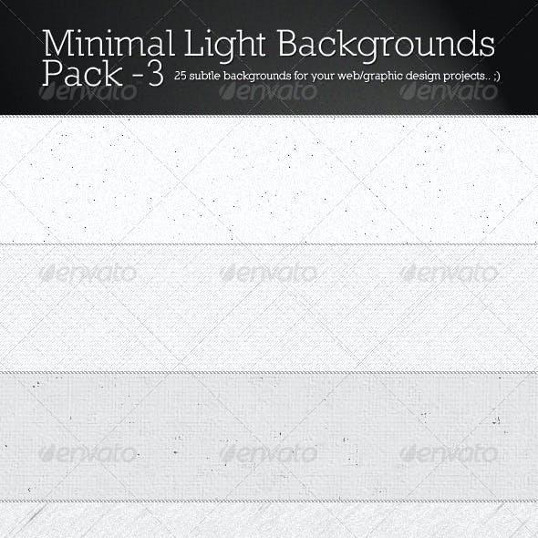 Minimal Light Backgrounds Pack 3