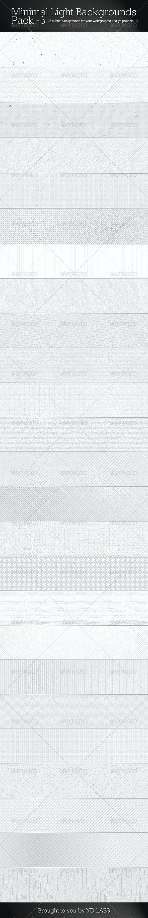 Minimal Light Backgrounds Pack 3 - Patterns Backgrounds