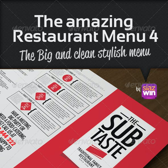 The Restaurant Menu 4