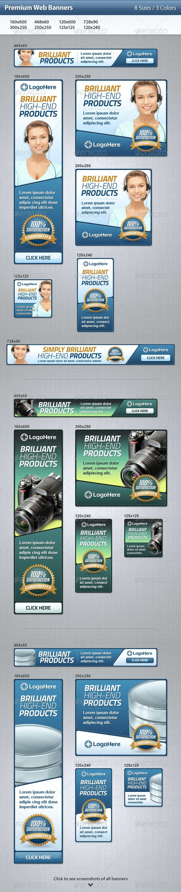 Premium Web Banners - Banners & Ads Web Elements