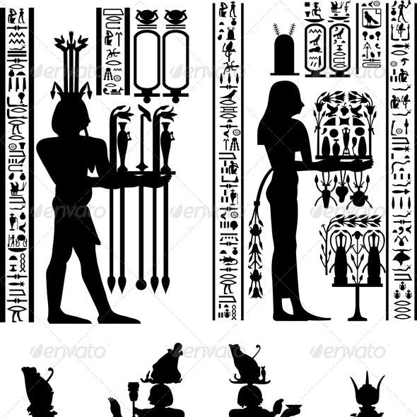 Set of Egyptian Backgrounds