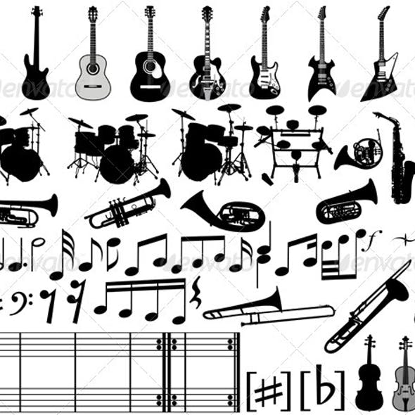 Musical Elements and Instrument Set