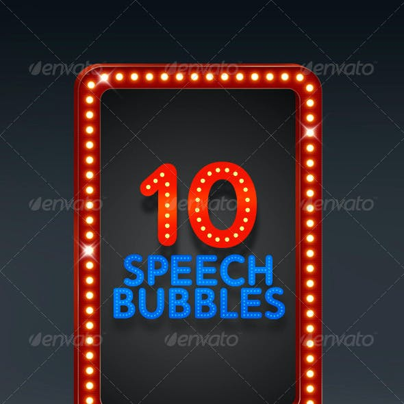 10 Speech Bubbles