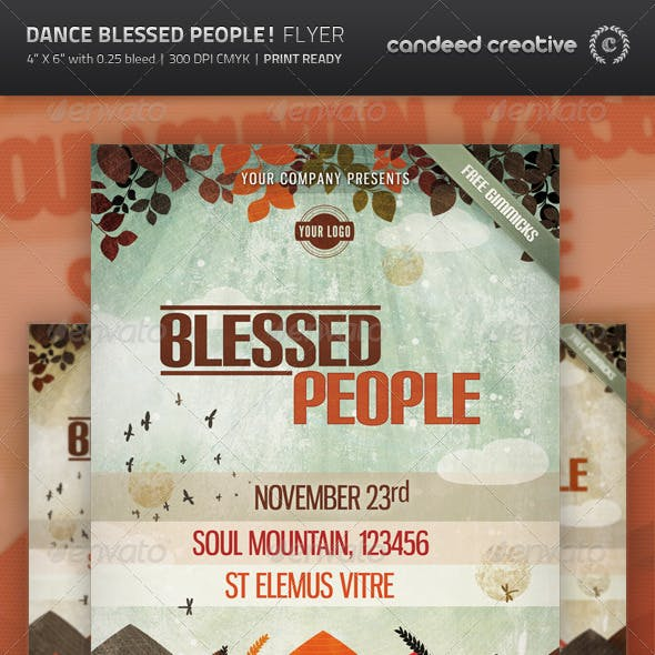 Dance Blessed People! Flyer Template