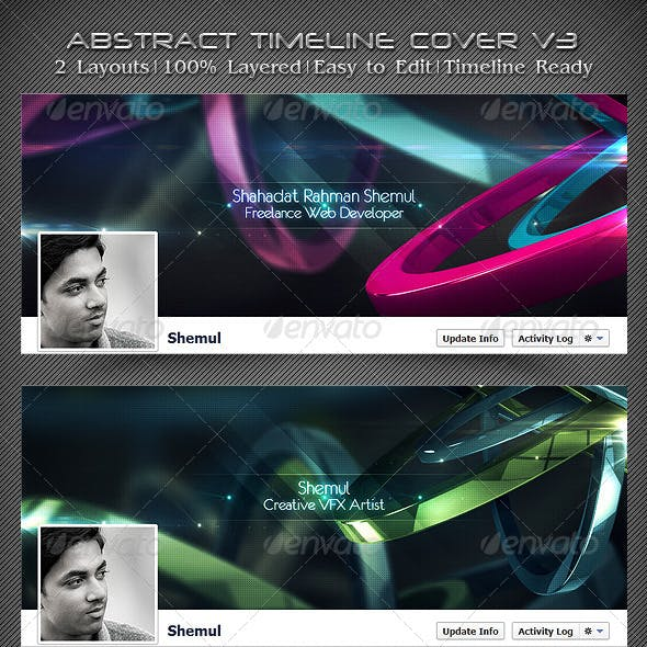 Abstract Timeline Cover V3