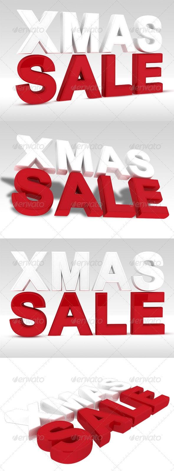 Christmas Sale - Xmas Sale - 3D Renders Graphics